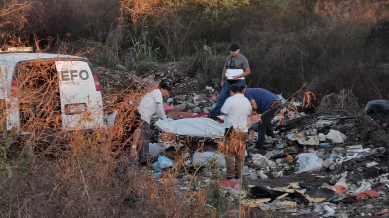 Encuentran a persona asesinada al sur de Culiacán