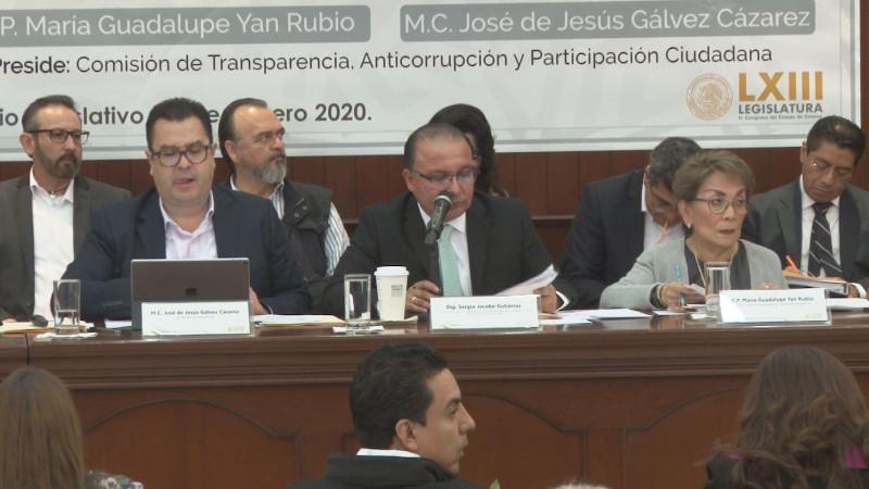 En materia de transparencia el trabajo es deficiente señala Grupo Parlamentario de MORENA