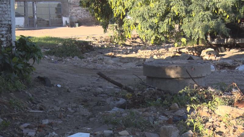 En malas condiciones calles de la Francisco Villa