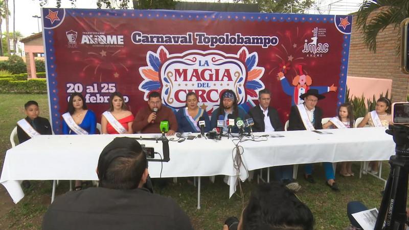 Presentan programa para 'Carnaval de Topolobampo'