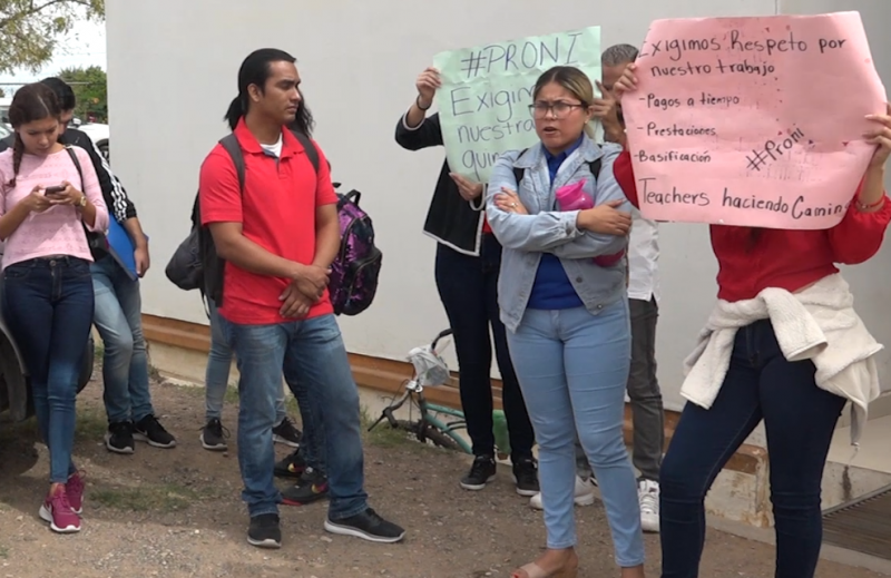 Docentes del PRONI exigen pagos de quincenas atrasadas