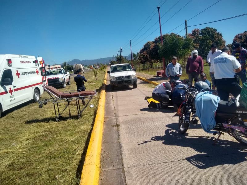 Atropella motociclista a trabajador del  Ayuntamiento de Escuinapa
