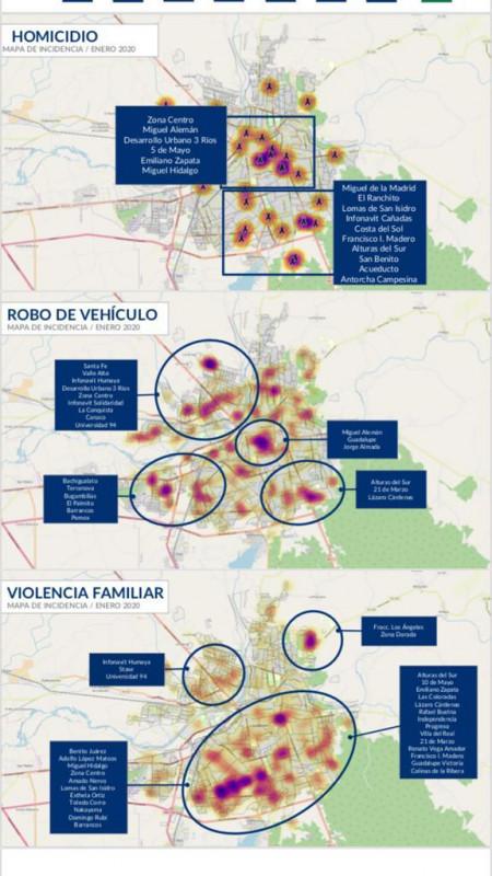 Concentra sur y centro de Culiacán mayor incidencia delictiva