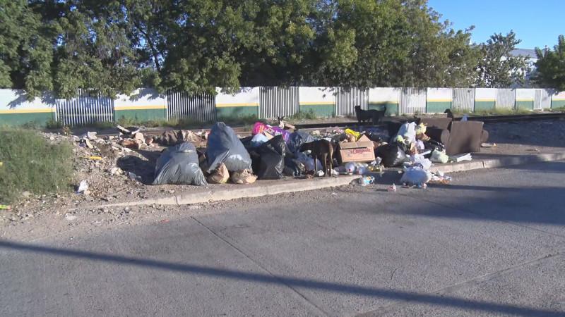 Mucha basura en Infonavit Las Flores