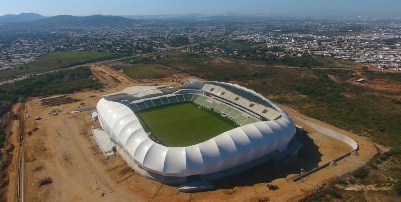 Casi listo el nuevo estadio de fútbol de Mazatlán