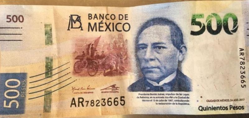 Circulan billetes falsos de $500.00 en Mazatlán
