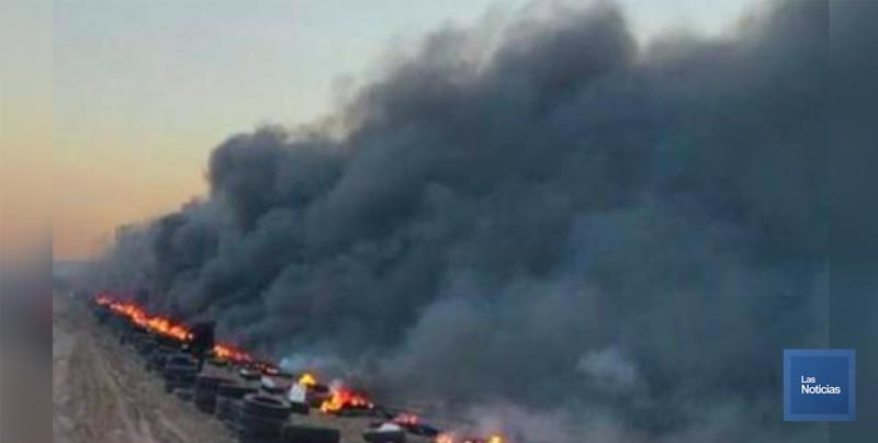 Confirma PROAES que 5 campos agrícolas quemaron llantas en las pasadas heladas