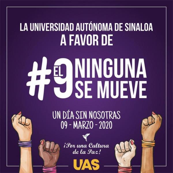 """Se une la UAS al movimiento """" Un día sin mujeres"""""""