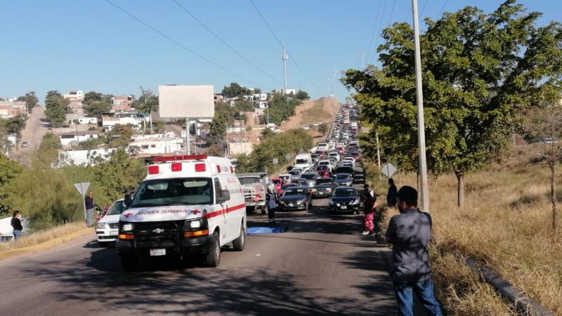 Atropellan y muere joven mujer al sur de Culiacán