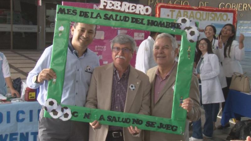 Feria de la Salud para hombres en Palacio de Gobierno