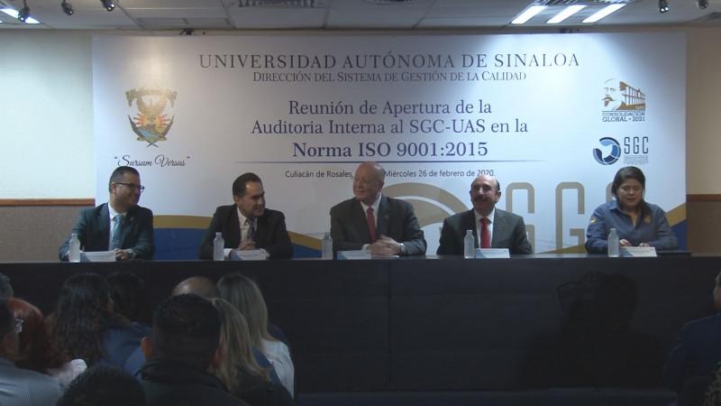 Reunión de apertura de auditoría interna al sistema de gestión de calidad UAS