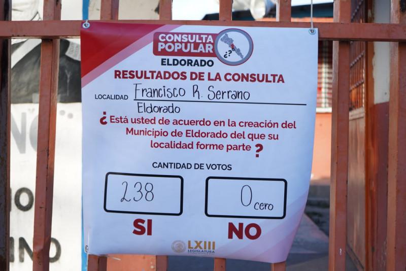 """Mayoría vota por un """"Si""""  para conformar el municipio de Eldorado"""