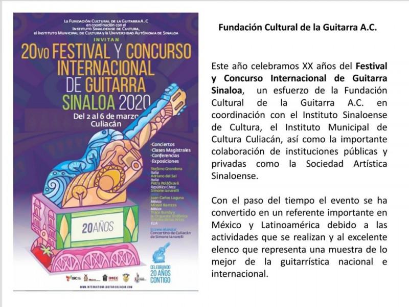 Festival y concurso internacional de guitarra Sinaloa 2020
