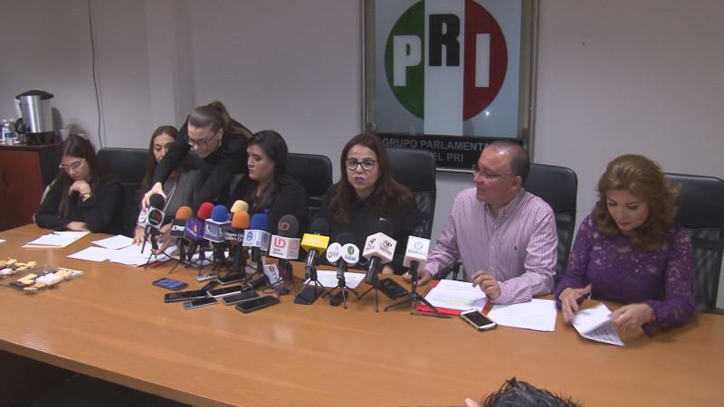 Presenta PRI iniciativas en tema de feminicidio y caso Ingrid