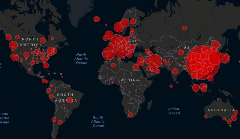 Este sitio te muestra gráficos con los datos mundiales sobre el coronavirus