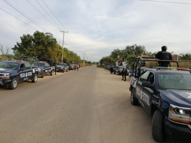 Autoridades de seguridad recorren comunidades al norte de Culiacán