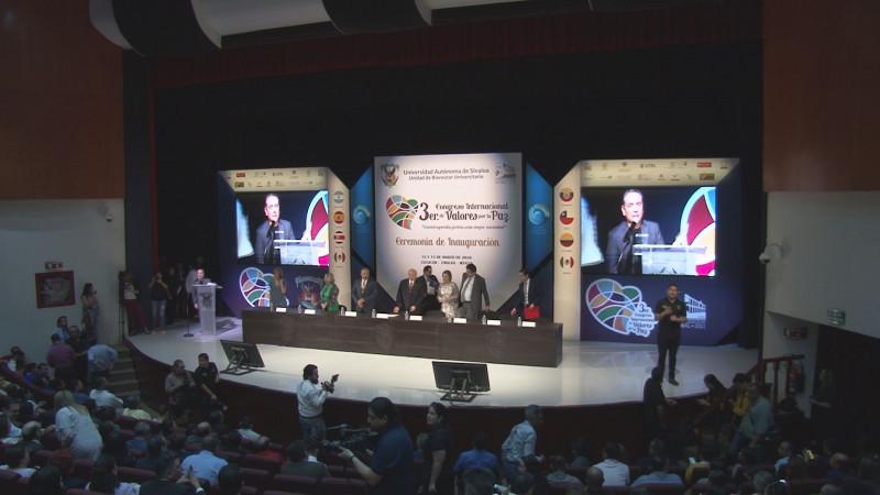 Se inauguró el Tercer Congreso Internacional de Valores por La Paz