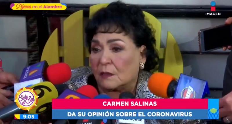 Es un castigo de la vida por comerse a los gatitos y a los perritos: Carmen Salinas, sobre el coronavirus