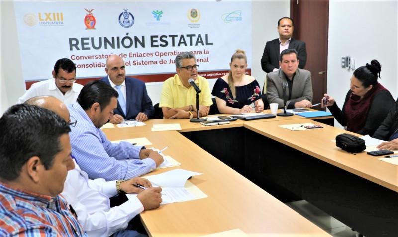 Refuerzan trabajos de enlaces operativos municipales para consolidación del Sistema de Justicia Penal Acusatorio