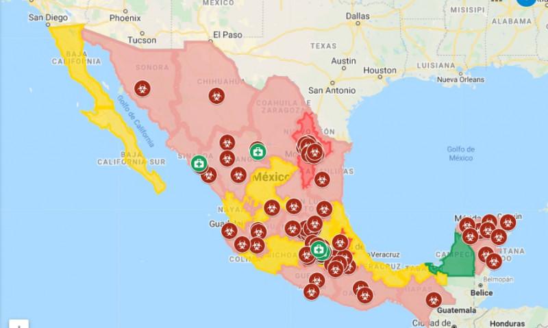 Google Maps te muestra en tiempo real los casos de coronavirus en México