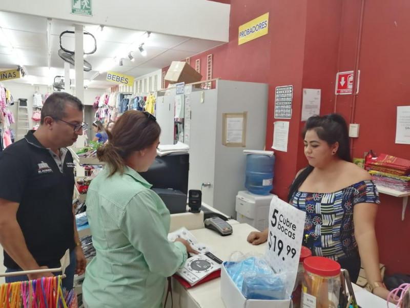 Continúa gobierno de Rosario difusión en comercios para prevención de Coronavirus