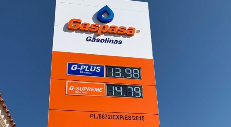 ¡Corre a llenar tu tanque!.. Así amaneció el litro de gasolina en Gaspasa Gasolinas Mazatlán.