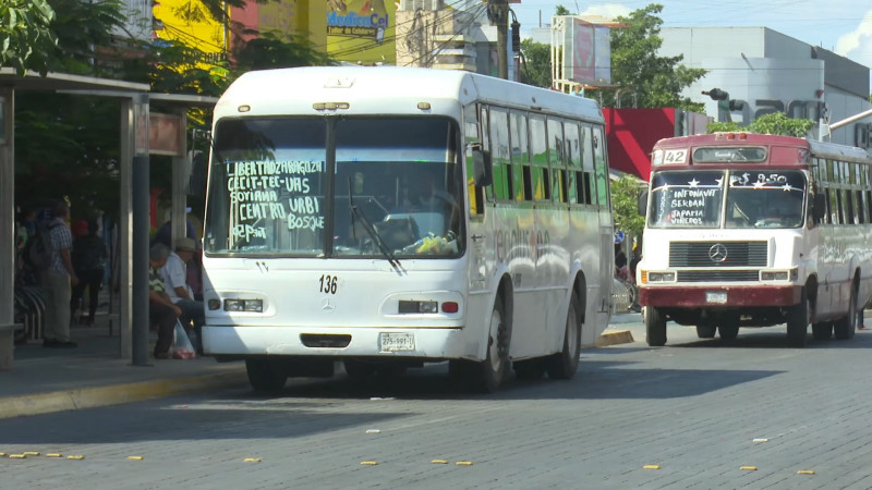 Camiones urbanos al 50 por ciento