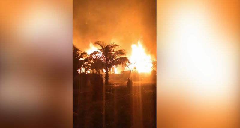 40 unidades consumidas fue resultado de fuerte incendio en Trailer Park de Cerritos