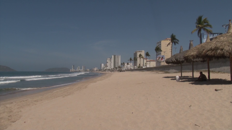 Playa y malecón desolados, la gente acató recomendaciones