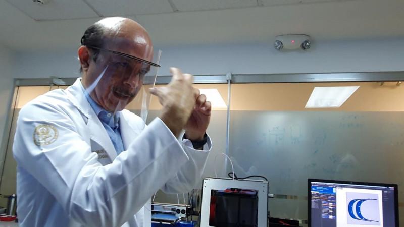 UAS  crea caretas de protección para médicos ante coronavirus
