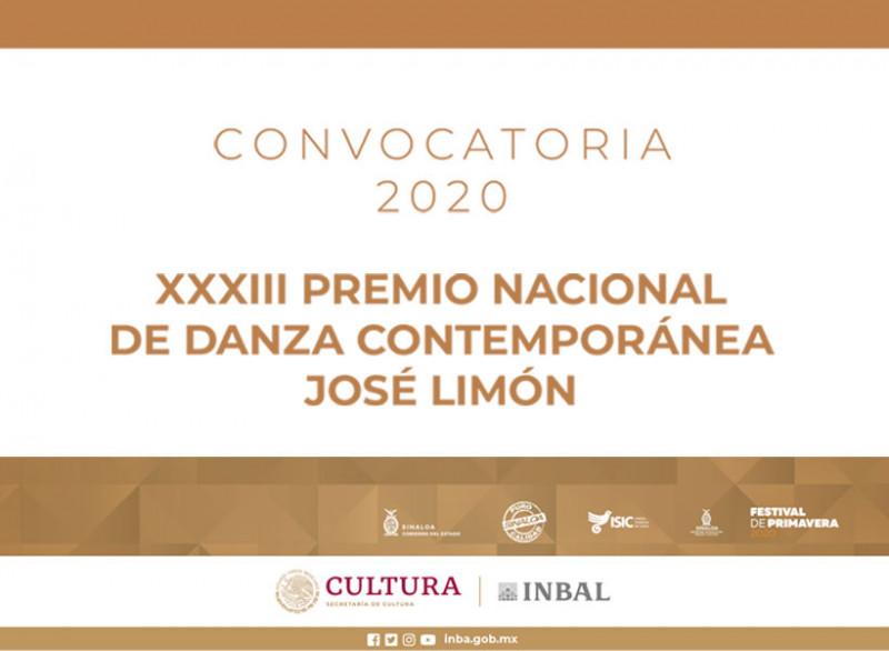 Amplían plazo para registrar propuestas al 33º Premio Nacional de Danza José Limón 2020