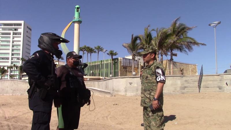 Autoridades de seguridad verifican que se respeten playas cerradas
