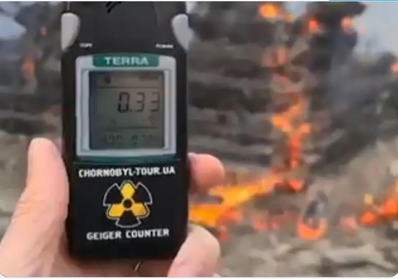Incendio en Chernobyl desata los niveles de su radioactividad