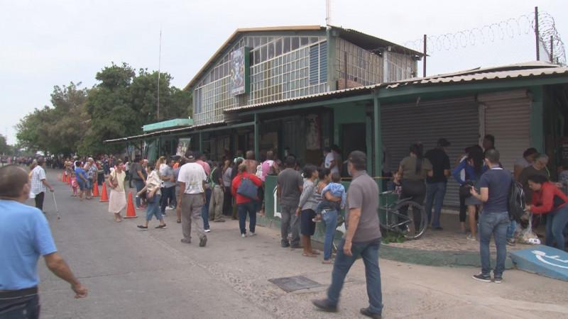 Sin medidas sanitarias se entregan despensas en la Capilla de Jesús Malverde