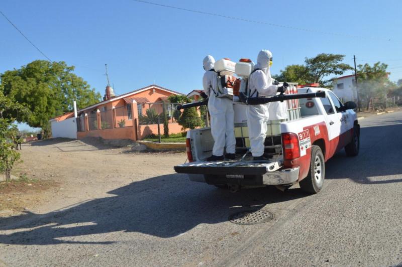 Sanitizan zona rural sur de Mazatlán