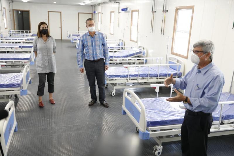 Instalan módulo hospitalario para pacientes COVID en el HGC