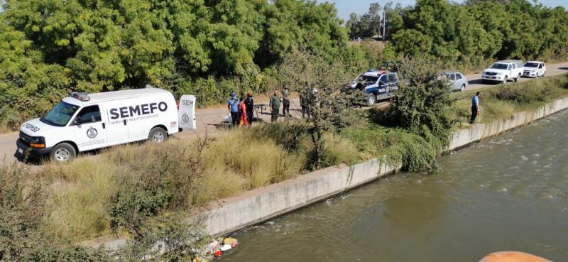 Encuentran cadáver en canal del Ejido El Quemadito