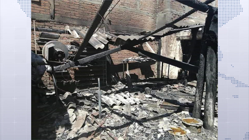 Pierde familia su patrimonio en medio de incendio