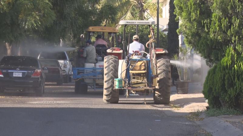 Continúan las brigadas de sanitización en Culiacán