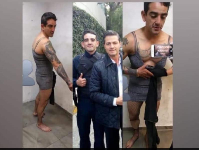 Ex escolta de Peña Nieto es detenido borracho y vestido de mujer