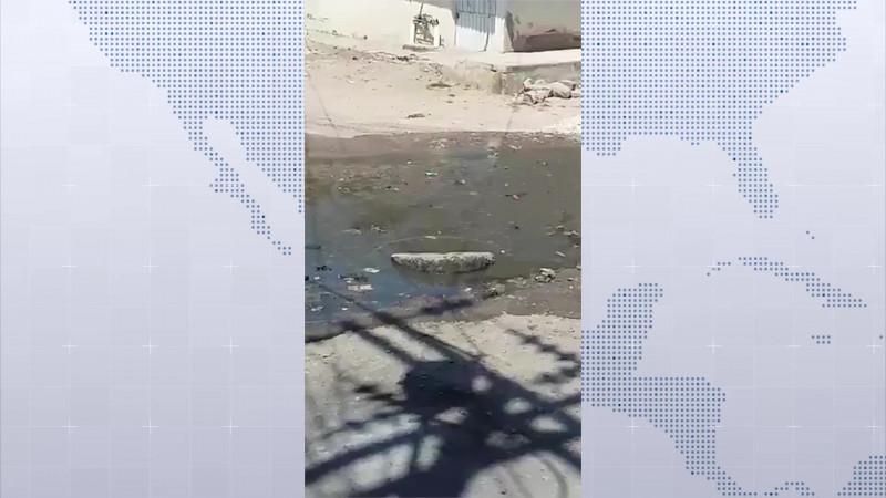 Surge otra fuga de aguas residuales...ahora en la Allende