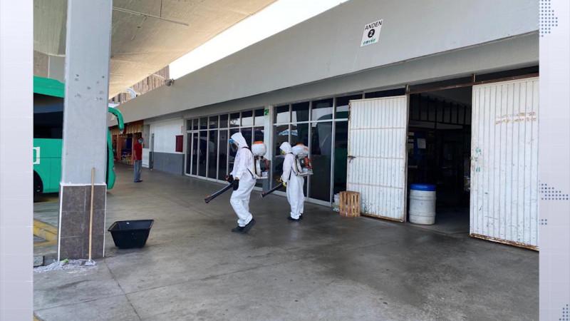 Llegan los 'cazavirus' a la Isla de la Piedra y Central camionera