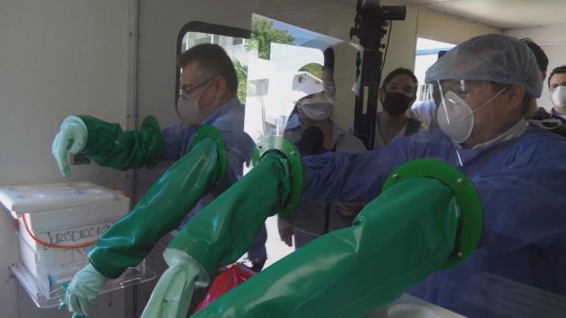 Entrega la UAS segunda unidad móvil para diagnosticar pacientes con COVID-19