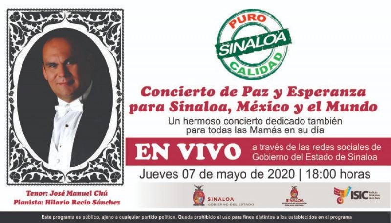 Concierto de José Manuel Chú en línea el próximo jueves
