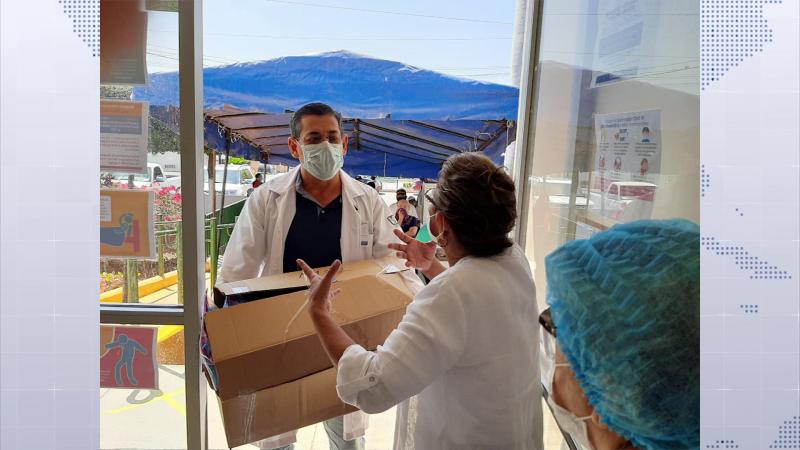 Diputada entrega material y equipo de protección a hospitales de la región