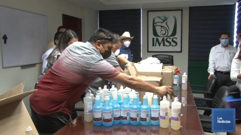 Diputados de morena entregan insumos al IMSS y Hospital General