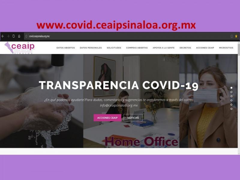 """Tiene CEAIP micrositio """"Sinaloa Transparente Covid-19""""."""