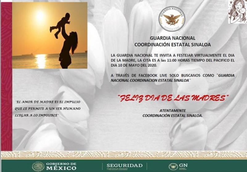 Artistas invitan a las madres a festejo virtual de la GN