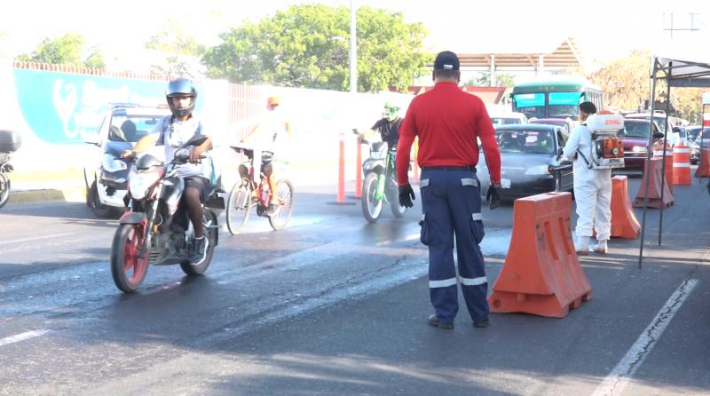 Protección Civil instala filtros en principales avenidas de Mazatlán