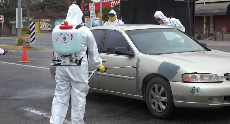 PC han sanitizado 63 mil vehículos en filtros sanitarios